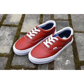 ~E~COOL~VANS Authentic era 紅色皮款帆布鞋1603