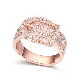 配飾2015 銅鍍真金級微鑲鋯石皮帶 戒指環免郵