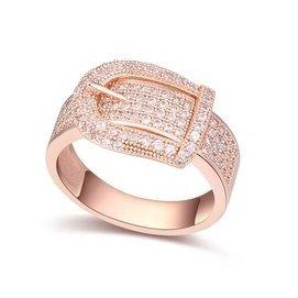 配飾2015 銅鍍真金級微鑲鋯石皮帶 戒指環