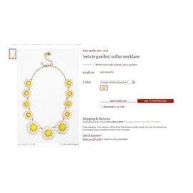 輕度奢侈 ^~ ^~ 黃色 合成寶石太陽花項鏈同款