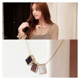 韓國 正品項鏈女飾品亞克力氣質項墜項鏈 日韓圓珠鏈 裝飾