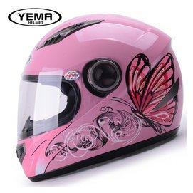 野馬四季女士摩托車頭盔 機車全盔 鼕季全覆式電動車安全帽防霧