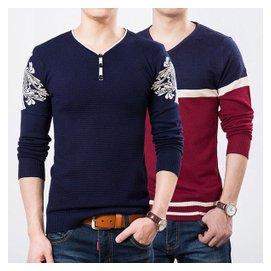 鼕季 男式羊絨衫圓領套頭薄毛衣青年打底針織衫男加大碼外套潮