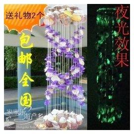 全國 紫色天然海螺 貝殼風鈴 掛飾門飾品 一個