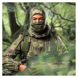 酋長新品斑紋迷彩忍者頭套戶外 野戰頭套叢林戰術頭套面具頭套