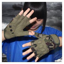 傘兵半指手套男女 特種兵軍迷戰術戶外騎行格鬥 露指防滑