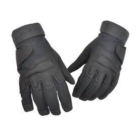 領頭狼黑鷹款半指手套全指地獄風暴戰術手套騎行防滑透氣牛皮