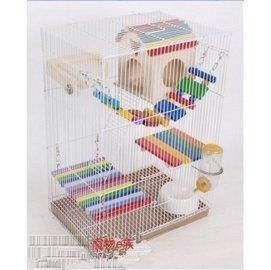 ( )3155魔王鼠籠子鼠的最愛 雙層松鼠鼠籠 龍貓 籠 超級別墅