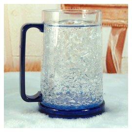 正品雙層冰杯啤杯 塑料大容量 凝膠冰沙杯玻璃制冷凍杯子
