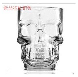 高硼 耐高溫玻璃骷髏啤把杯 透明個水杯玻璃杯子扎啤杯