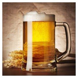 土耳其 帕莎正品無鉛鋼化玻璃杯子班尼啤杯扎啤杯水杯500