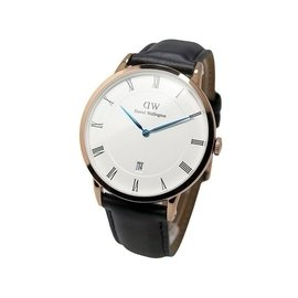 可 DANIEL WELLINGTON DW 手錶 DAPPER 38mm 皮錶帶 藍鋼