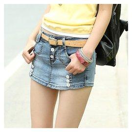 學生12女孩子15歲夏裝女大童11牛仔短褲13女童牛仔褲裙14