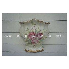 ^~~歐室 傢飾館~^~ 美式 古典 高溫陶瓷 玫瑰 彩繪 花瓶 花器 ^~ 上市^~