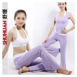 舒緩 2014瑜伽服夏套裝女 可插胸墊健身舞蹈瑜珈服三件套正品