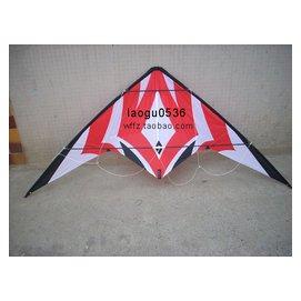 信天翁 傘布樹脂杆 1.8米紅金剛 雙線 特技風箏 12年