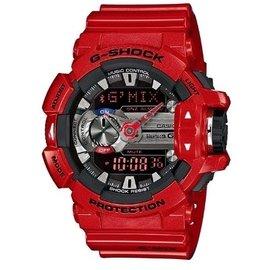 ~錶現e世代~CASIO~G~SHOCK 連結未來 藍芽手錶 紅^(GBA~400~4^)