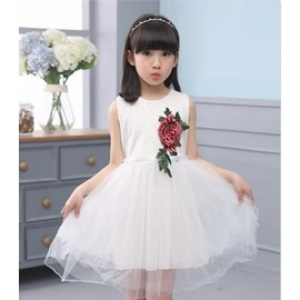 食尚 正韓女童夏裝蕾絲裙子 女孩公主連身裙淑女兒童裙