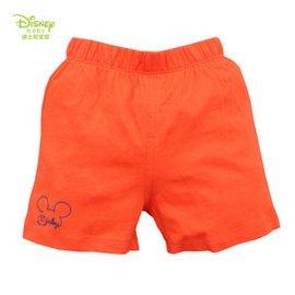 迪士尼 兒童短褲 男童女童褲子 夏裝針織短褲百搭夏薄款15新品 桔色 110