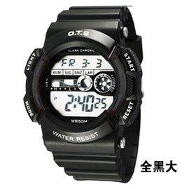 奧迪斯兒童手表男孩女孩防水夜光電子表多 表男童中小學生手表 6900 全黑大號