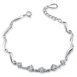 豪至尊銀飾品925純銀手鏈女 首飾手飾情侶生日 包郵