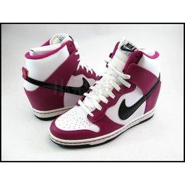 NIKE WMNS DUNK SKY HI 白桃紅 黑勾 AJ1 配色  楔型鞋 內增高 女鞋 雜誌款 @ 528899