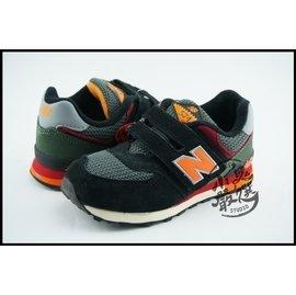 NEW BALANCE 574 童鞋 黑墨綠 黏帶 復古慢跑鞋 小朋友 女生 @ KV574K4Y