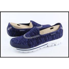 SKECHERS 健走鞋 GO WALK  虎紋深藍紫 懶人鞋 好穿脫 女生 @13772NVY