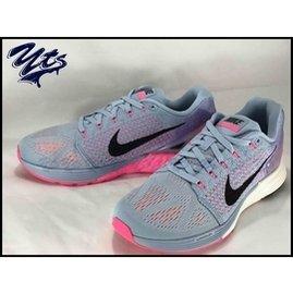 Nike Wmns Flyknit Lunarglide 7 灰黑 女鞋 慢跑鞋 灰粉 7