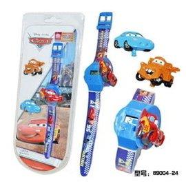 迪士尼汽車總動員卡通手表男賽車麥昆兒童電子表男孩換面翻蓋