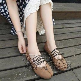食尚 日系復古鬆緊帶淺口單鞋女套腳圓頭平底鞋懶人豆豆鞋 潮鞋 衣の秘密