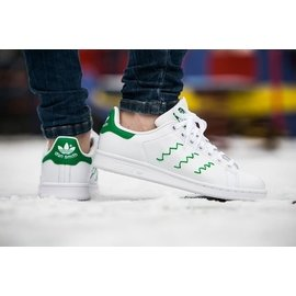 Adidas Stan Smith Zig~Zag AQ3090 S75139 女段 黑