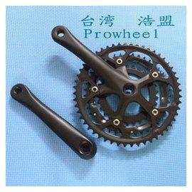 臺灣浩盟Prowheel 30~42~52T齒公路車折疊車自行車3片式方孔牙盤