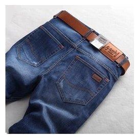 海瀾之家牛仔褲 男士修身直筒牛仔褲大碼中腰長褲男裝褲子潮