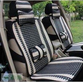 手編汽車坐墊 冰絲亞麻車墊四季墊座墊 涼墊(10件套)座椅