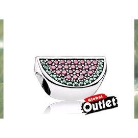 Pandora 潘朵拉  西瓜鑲鑽珠子 925純銀珠子 手鍊 手環 銀飾戒指 2016 系