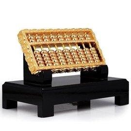 5Cgo~宅神~含稅會員有 521155401367 純銅黃金鑲鑽銅錢如意算盤招財飾品開業