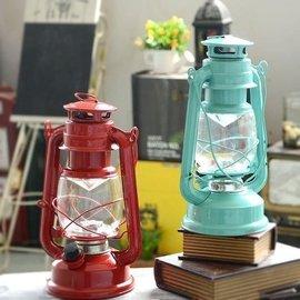 LED油燈 媒油燭檯燭台燭臺地中海風格露營用品鐵藝 藝術裝飾裝潢花園民宿咖啡廳特色餐廳~紅