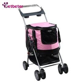 寵物手推車外出狗推車多 狗狗貓咪手推車遮陽罩高檔粉色