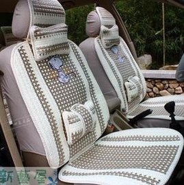 無限藍 汽車坐墊  汽車座墊 四季 冰絲涼墊 卡通可愛車墊座椅椅套凱蒂貓流氓兔史努比趴趴熊
