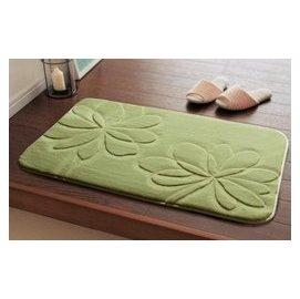 正韓 立體剪花臥室門廳浴室防滑墊吸水地墊 進門地墊門墊地毯 蒲公英款淺豆綠 F3