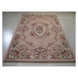 正韓國產純羊毛地毯 客廳茶幾地毯 中式 可訂制 紅色底 F45
