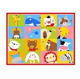 正韓 兒童卡通地毯包郵 超萌獅子王 環保防滑寶寶爬行墊臥室床邊毯 動物大遷移 F35