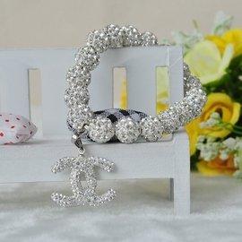 媲美施華洛世奇水晶鑽石手鏈配鑲滿 水鑽 小95雙C奢華手鏈