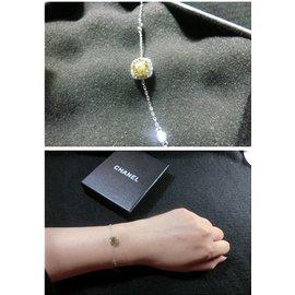 韓國直送 氣質黃玫瑰金鑽石手鏈 單鑽手鏈