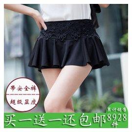 包郵 短裙女夏 裝半身裙性感迷你超短裙蕾絲裙褲顯瘦