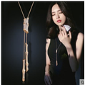 毛衣鏈女日韓長款項鍊韓國百搭 簡約衣服掛件配飾四季青竹