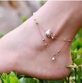 腳鏈女多層鈴鐺紅繩配飾 簡約腳環日韓鍍金防過敏飾品
