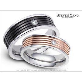 珠寶白鋼飾~愛情陪伴~情人對戒指 專櫃 單個 送刻字 情人節禮