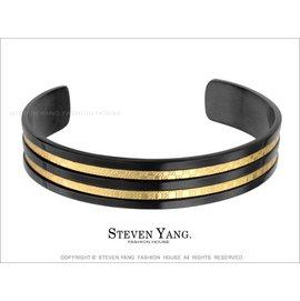 平行線條 格紋 鋼手環 單個